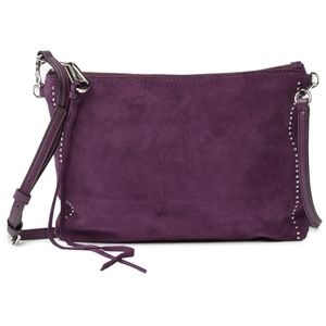 🔮Rebecca Minkoff Jon Plum Suede Crossbody Bag